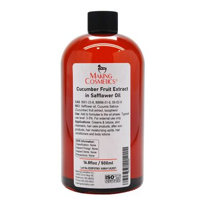 Cucumber Fruit Extract in Safflower Oil