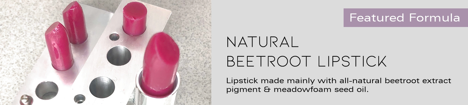 Formula for Natural Beetroot Extract Lipstick